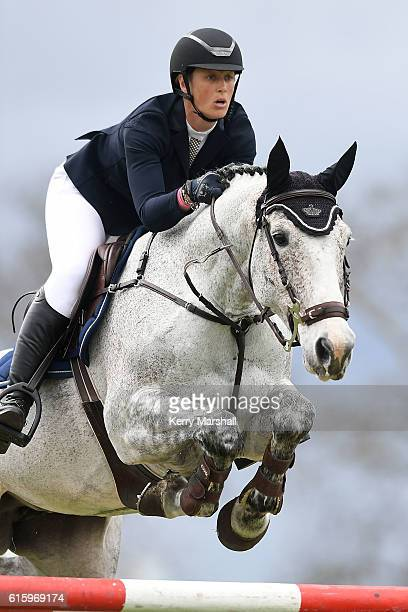 Brooke Edgecombe rides LT Holst Aunty Annette during the Country TV World Cup Premier League on October 21 2016 in Hastings New Zealand