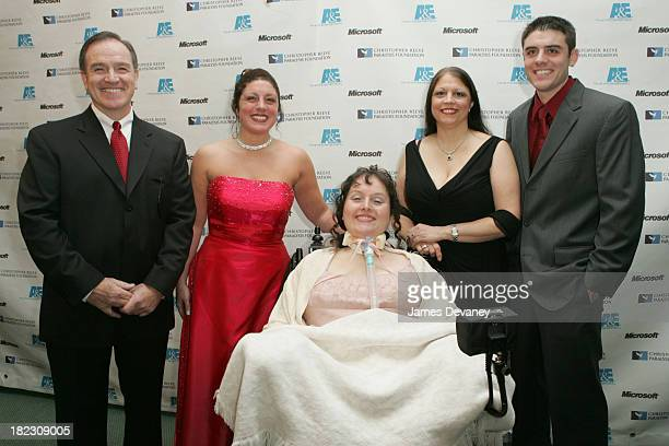 Brooke Ellison with family during The Brooke Ellison Story New York Premiere Inside at Lincoln Center Alice Tully Hall in New York City New York...