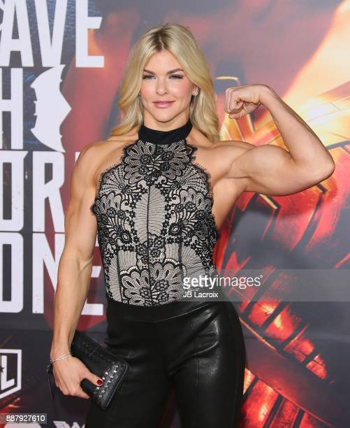 Brooke Ence attends the premiere of Warner Bros. Pictures' 'Justice League' on November 13, 2017 in Los Angeles, California.