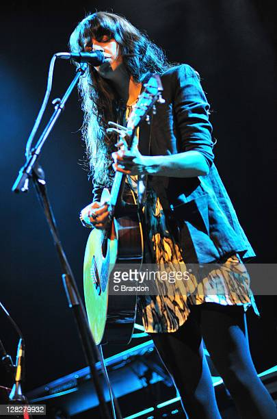 Brooke Fraser performs on stage at Shepherds Bush Empire on October 5 2011 in London United Kingdom