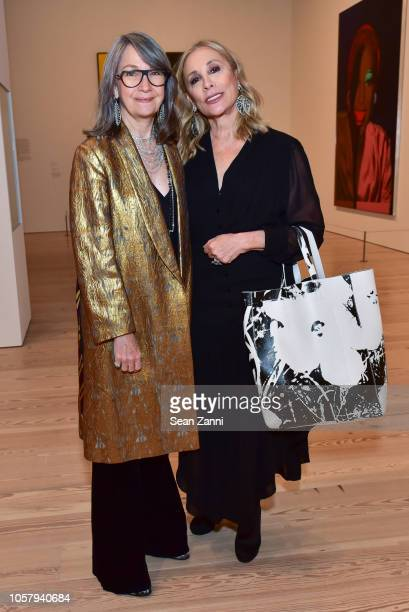 Brooke Garber Neidich and Susan Hess attend exhibition preview and dinner for Andy Warhol From A To B and Back Again hosted by Sotheby at The Whitney...