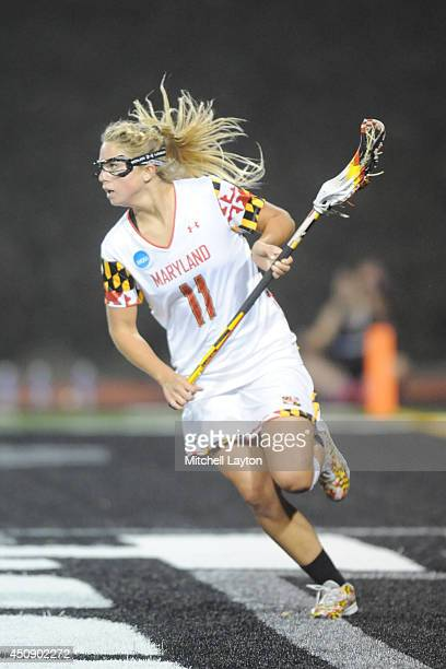 Brooke Griffin of the Maryland Terrapins runs with the ball during the NCAA Division I Women's Lacrosse Championship against the Syracuse Orange at...