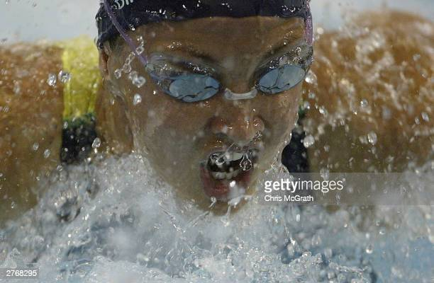 Brooke Hanson of Australia in action in the Women's 100m Individual Medley during Finals on day two of the FINA World Cup Swimming Championships held...