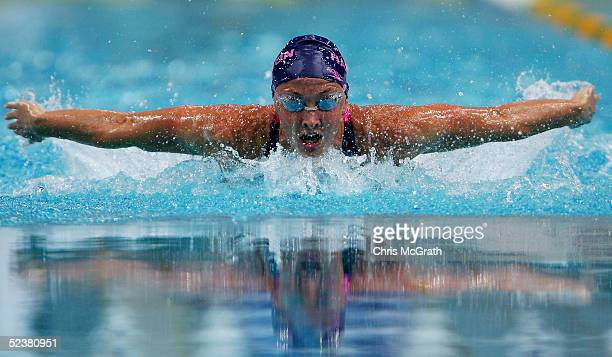 Brooke Hanson of Australia in action in the Women's 200m Individual Medley Final of the Telstra Australian Swimming Championships at the Sydney...