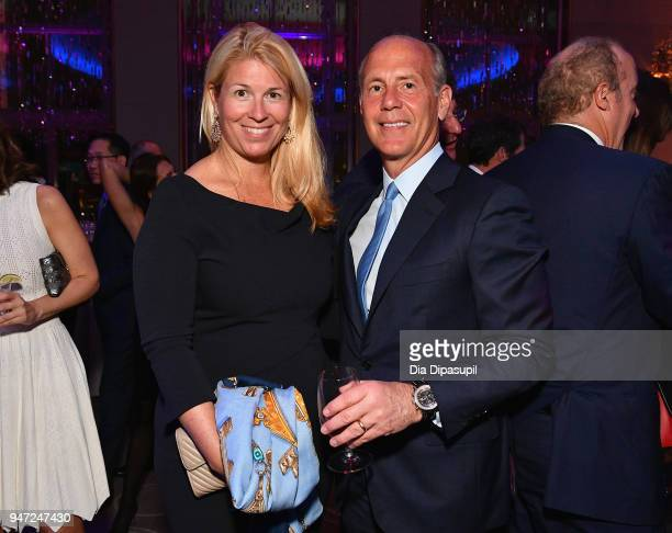 Brooke Harlow and Douglas Blagdon attends the Lincoln Center Alternative Investment Industry Gala on April 16 2018 at The Rainbow Room in New York...