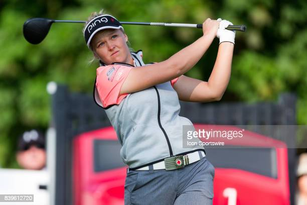 Brooke Henderson during the third round of the Canadian Pacific Women's Open on August 26 2017 at The Ottawa Hunt and Golf Club in Ottawa ON Canada