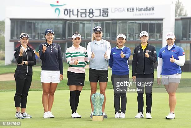 Brooke Henderson of Canada, In-Gee Chun of South Korea, So-Yeon Ryu of South Korea, Lexi Thompson of United States, Lydia Ko of New Zealand,...
