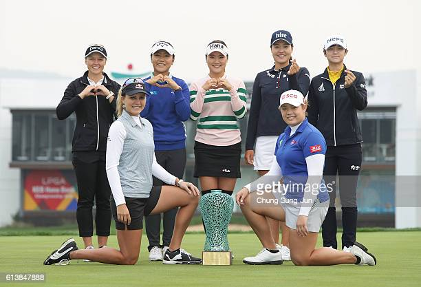 Brooke Henderson of Canada Lydia Ko of New Zealand SoYeon Ryu of South Korea InGee Chun of South Korea SungHyun Park of South Korea Lexi Thompson of...