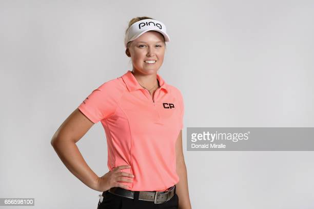 Brooke Henderson of Canada poses for a portrait at the Park Hyatt Aviara Resort on March 21 2017 in Carlsbad California