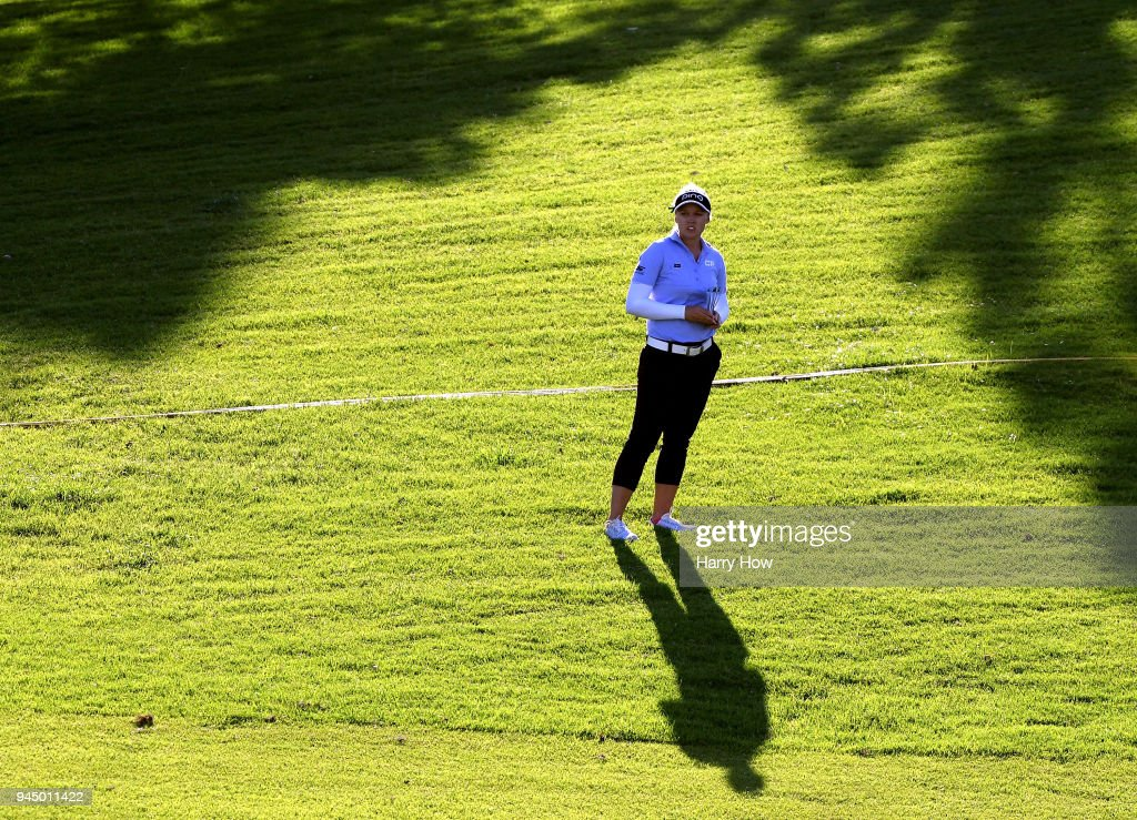 Brooke Henderson of Canada waits to play her shot on the 17th fairway during the first round of the LPGA LOTTE Championship at the Ko Olina Golf Club on April 11, 2018 in Kapolei, Hawaii.