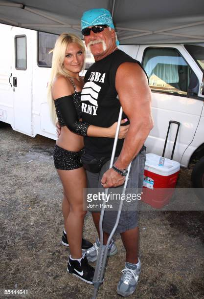 Brooke Hogan and Hulk Hogan backstage at Calle Ocho on March 15 2009 in Miami