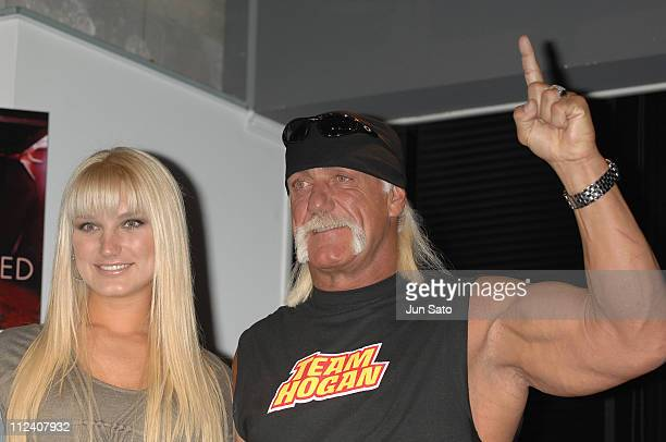 """Brooke Hogan and Hulk Hogan during Brooke Hogan Holds a Press Conference to Promote her Debut Album """"UNDISCOVERED"""" in Japan at Pony Canyon in Tokyo,..."""