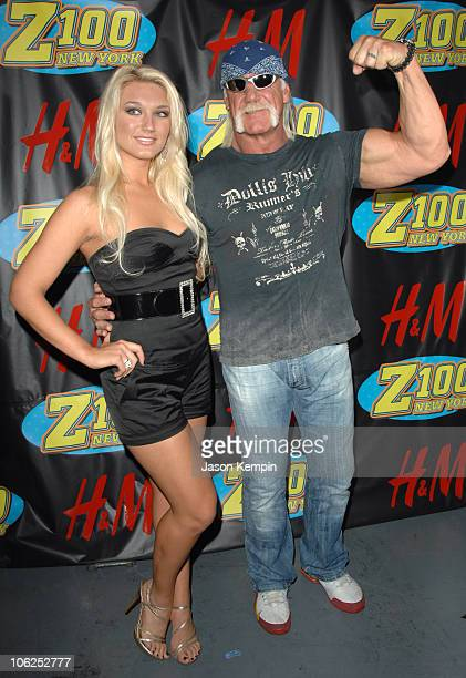 Brooke Hogan and Hulk Hogan during Z100's Jingle Ball 2006 Press Room at Madison Square Garden in New York City New York United States
