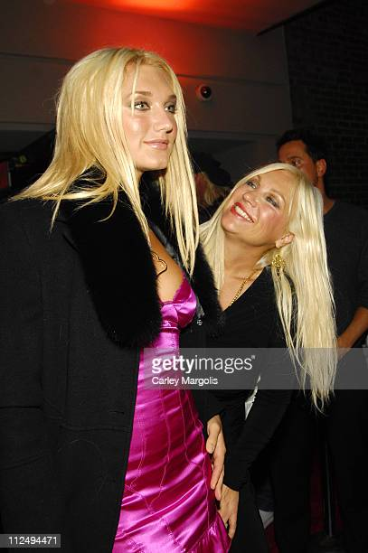Brooke Hogan and Linda Hogan during Brooke Hogan Celebrates the Release of Her New CD Undiscovered October 24 2006 at Marquee in New York City New...