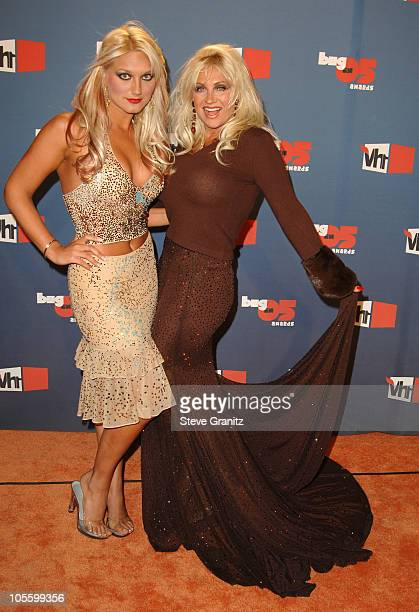 Brooke Hogan and Linda Hogan during VH1 Big in '05 Arrivals at Sony Studios in Culver City California United States