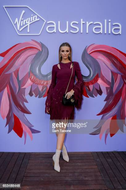 Brooke Hogan arrives ahead of the VAMFF 2017 Premium International Designer Showcase 1 Indonesia runway show on March 15 2017 in Melbourne Australia
