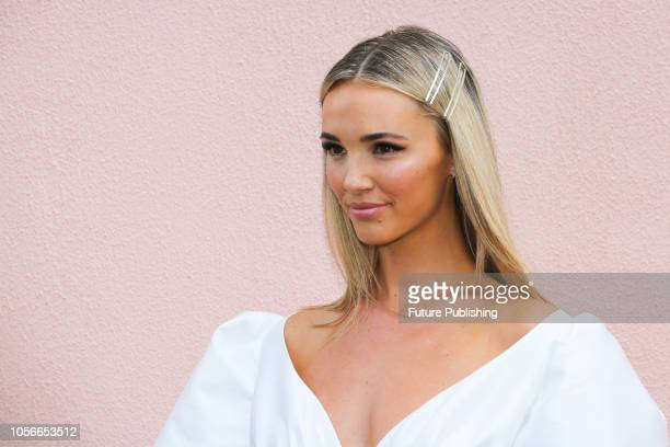Brooke Hogan at Derby Day at the 2018 Melbourne Cup Carnival