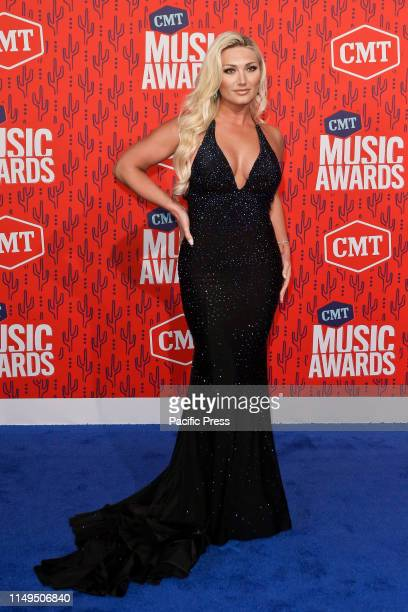 Brooke Hogan attends the 2019 CMT Music Awards at the Bridgestone Arena in Nashville Tennessee