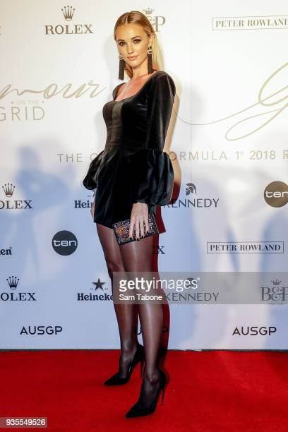 Brooke Hogan attends the Glamour on The Grid Party at Albert Park on March 21 2018 in Melbourne Australia