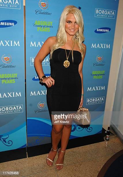 Brooke Hogan during Hotel De Maxim Party for Super Bowl XLI Arrivals at Sagamore Hotel in Miami Beach Florida United States