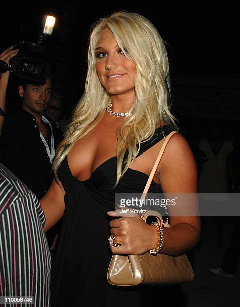 Brooke Hogan during Marc Anthony and Jennifer Lopez in Concert Arrivals at Pontiac Garage Stage in Miami Florida United States