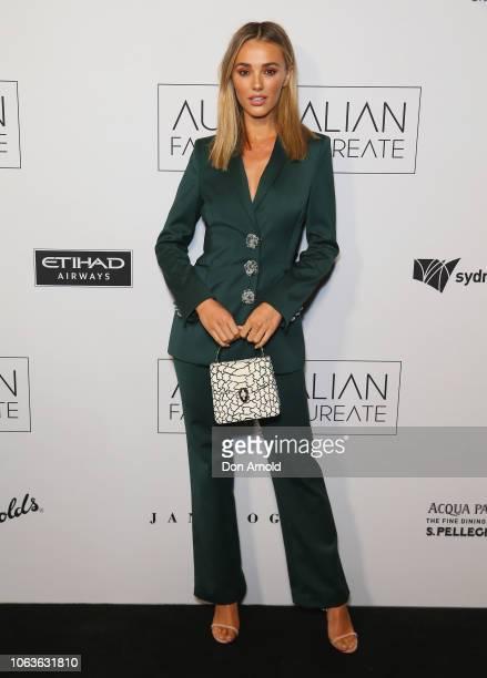 Brooke Hogan poses at the 2018 Australian Fashion Laureate Awards on November 20 2018 in Sydney Australia