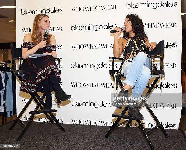 Brooke Jaffe and Hannah Bronfman attend Bloomingdales Festival Dressing Event on April 7 2016 in New York City