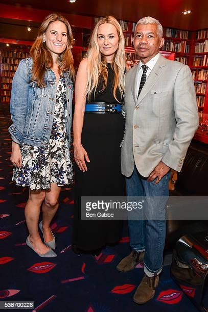 Brooke Jaffe fashion designer Julie De Libran and Freddie Leiba attend the Sonia Rykiel Pre Spring 2017 Presentation at Sonia Rykiel Madison Boutique...