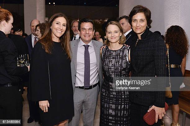 Brooke Kanter Adam Kanter Jodie Foster and Alexandra Hedison both wearing Bottega Veneta attend the Hammer Museum 14th Annual Gala In The Garden with...