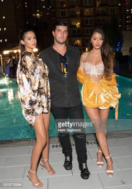 Brooke Korine Andrew Warren and Nora Gjieli attend the Gotham Summer Sundown on August 8 2018 in New York City