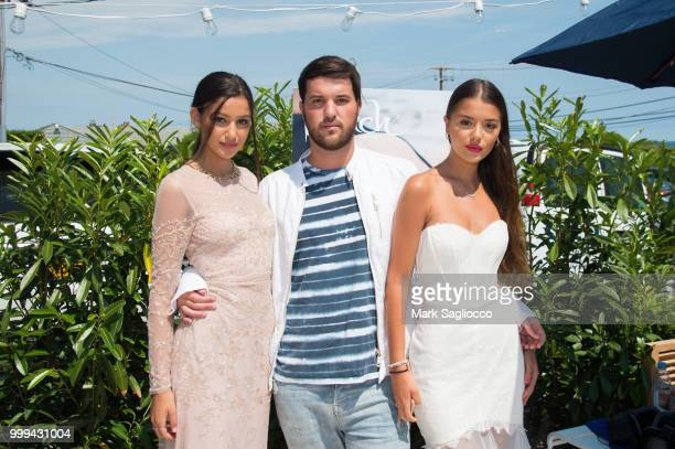 Brooke Korine Andrew Warren and Nora Gjieli attend the Modern Luxury The Next Wave at Breakers Montauk on July 14 2018 in Montauk New York