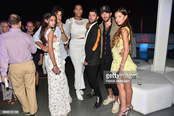 Brooke Korine Teddy Margules EJ Johnson and Andrew Warren attend the Parrish Art Museum Midsummer Party 2018 at Parrish Art Museum on July 14 2018 in...