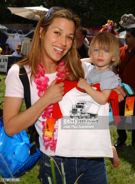 """Brooke Langton and son at Fooey during Silver Spoon Dog and Baby Buffet"""" Benefitting Much Love Animal Rescue Day One at Private Residence in Beverly..."""
