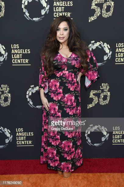 Brooke Lewis attends Los Angeles LGBT Center Celebrates 50th Anniversary With Hearts Of Gold Concert Multimedia Extravaganza at The Greek Theatre on...