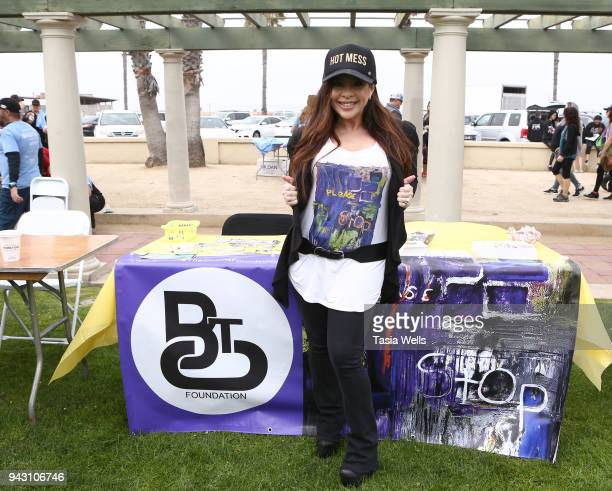 Brooke Lewis attends the Los Angeles NEDA Walk on April 7 2018 in Santa Monica California