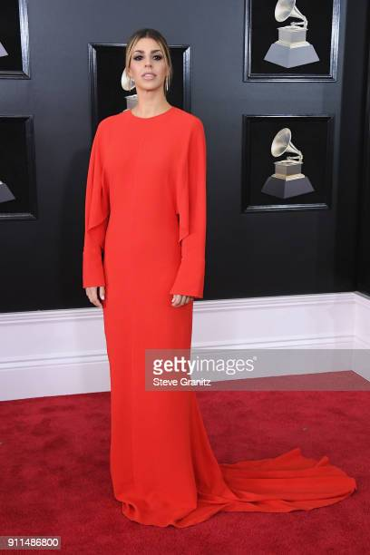 Brooke Ligertwood of musical group Hillsong Worship attends the 60th Annual GRAMMY Awards at Madison Square Garden on January 28 2018 in New York City