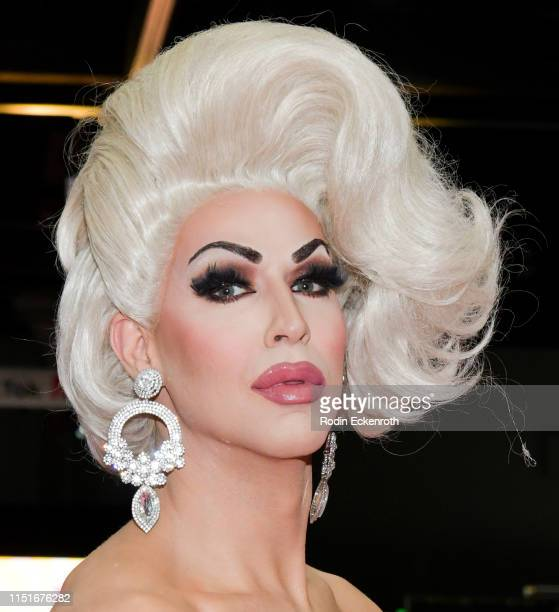 Brooke Lynn Hytes poses for a portrait at RuPaul's DragCon LA 2019 at Los Angeles Convention Center on May 25 2019 in Los Angeles California