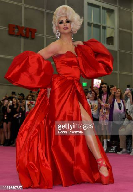 Brooke Lynn Hytes walks down the pink carpet at RuPaul's DragCon LA 2019 at Los Angeles Convention Center on May 25 2019 in Los Angeles California