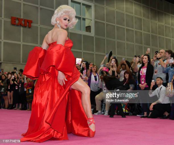 Brooke Lynn Hytes walks the pink carpet at RuPaul's DragCon LA 2019 at Los Angeles Convention Center on May 25 2019 in Los Angeles California