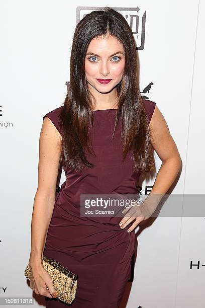 Brooke Lyons arrives at the HCouture 2012 The Future Of Fashion on September 22 2012 in Los Angeles California