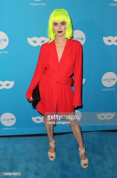 Brooke Lyons attends the Sixth Annual UNICEF Masquerade Ball at Clifton's Republic on October 25 2018 in Los Angeles California