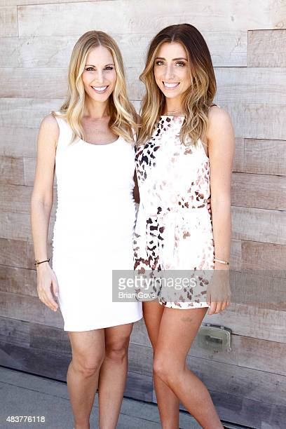 Brooke Mahan and Lauren Elizabeth attend The 5th Annual Streamy Awards Nomination Celebration at Annenberg Community Beach House on August 12 2015 in...