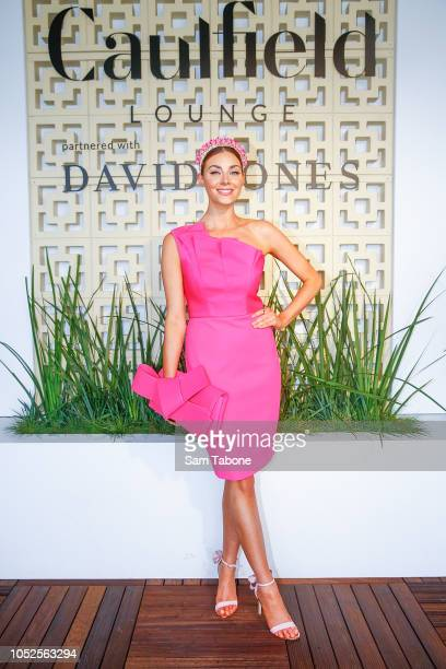 Brooke Meredith attends 2018 Caulfield Cup Day at Caulfield Racecourse on October 20 2018 in Melbourne Australia