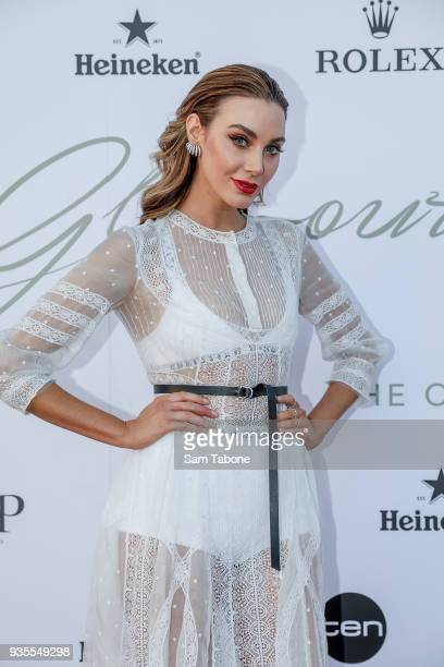 Brooke Meredith attends the Glamour on The Grid Party at Albert Park on March 21 2018 in Melbourne Australia