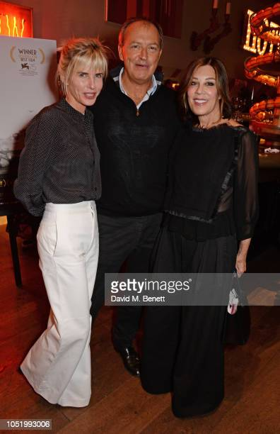 Brooke Metcalfe Julian Metcalfe and Peggy Siegal attend a screening of Alfonso Cuaron's 'Roma' hosted by Netflix David Heyman at The Ham Yard Hotel...