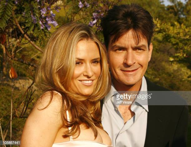 Brooke Mueller and Charlie Sheen during Sixth Annual Chrysalis Butterfly Ball Red Carpet at Home of Susan Harris Hayward Kaiser in Mandeville Canyon...