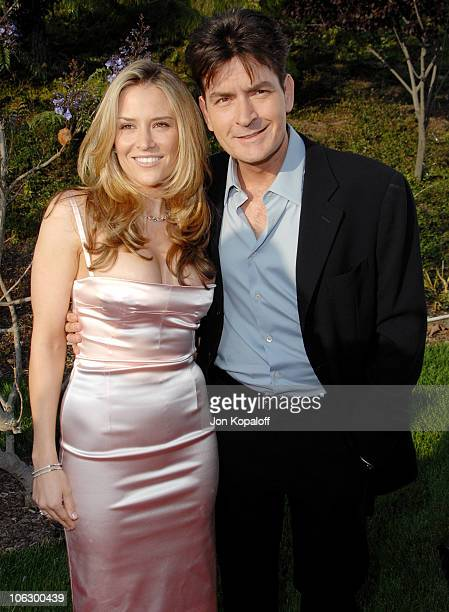 Brooke Mueller and Charlie Sheen during Sixth Annual Chrysalis Butterfly Ball Arrivals at Home of Susan Harris Hayward Kaiser in Mandeville Canyon...