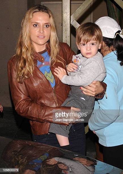 Brooke Mueller is seen leaving The Grove on March 5, 2011 in Los Angeles, California.