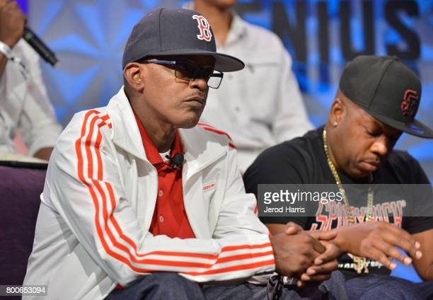 Brooke Payne and Michael Bivins at day one of Genius Talks sponsored by ATT during the 2017 BET Experience at Los Angeles Convention Center on June...