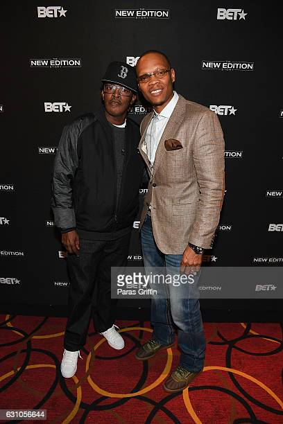Brooke Payne and Ronnie Devoe attend BET's Atlanta screening of The New Edition Story at AMC Parkway Pointe on January 5 2017 in Atlanta Georgia